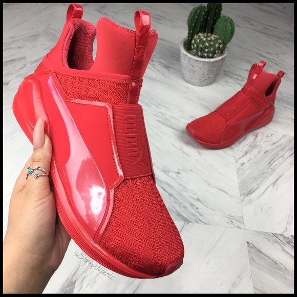 4b419ec266d3ee PUMA shoes FIERCE Gigi Hadid Style Red Sneakers. M 5adfef2046aa7c86666dde7b